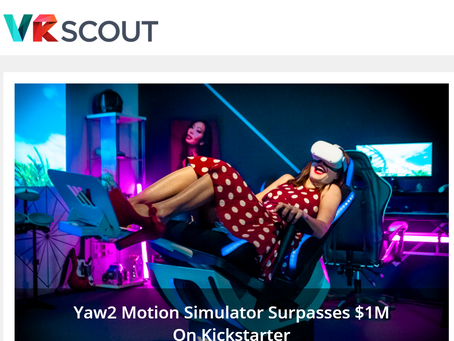 Yaw2 on the Homepage of VRScout