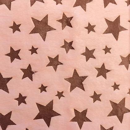 Pelz Mit Sterndruck Rosa ab 0,5m