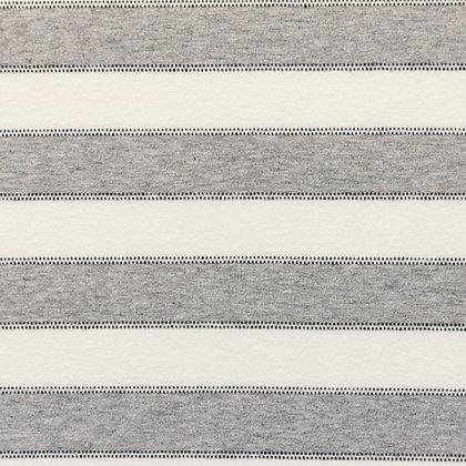 Jersey Streifen Mit Punktlinie Off Weiß ab 0,5m