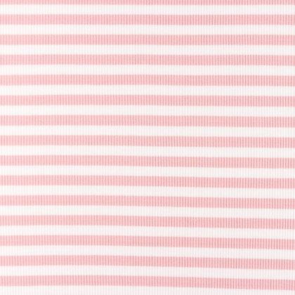 Cotelé Jersey Streifen-Uni Rosa ab 0,5m