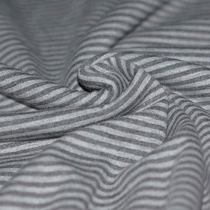 Baumwolljersey Streifen 3mm Grau Anthrazit ab 0,5m