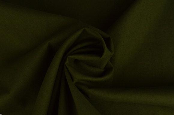 Baumwolle Dunkel Moosgrün ab 0,5m