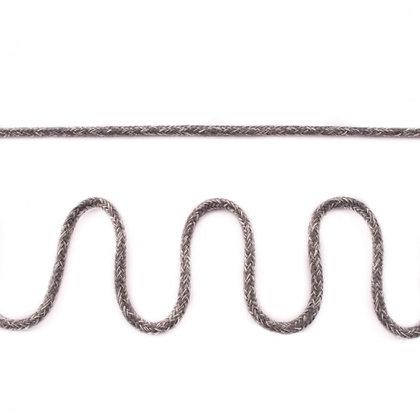 Doppelgewebe Baumwollkordel Meliert Mittelgrau 0,5m