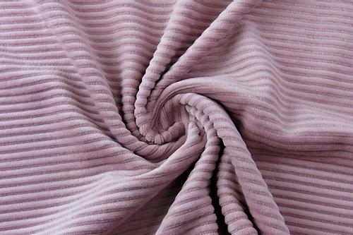 Gewaschener Baumwollcord Alt Rosa ab 0.5m