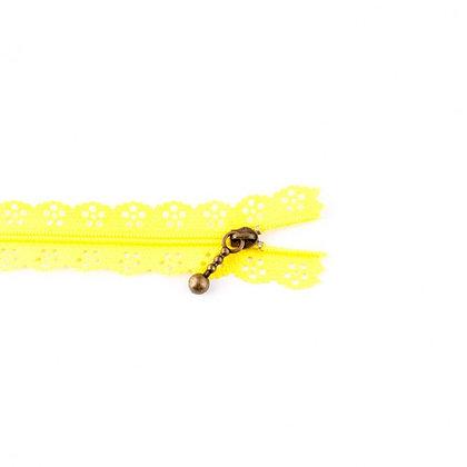 Reißverschluss Blume Gestanzt Gelb