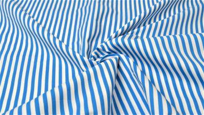Baumwolle Blau Weiße Streifen ab 0,5m