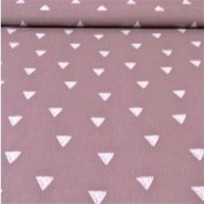 Baumwolle Puderrosa mit Weiße Dreieck ab 0,5m