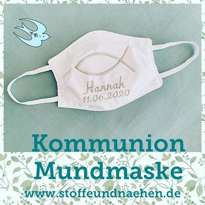 Kommunions Mundmasken mit Wunschbestickung