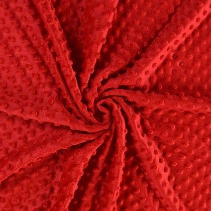 Minky Fleece Stoff Rot ab 0,5m
