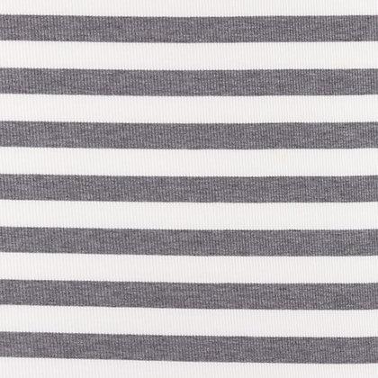Cotelé Jersey Streifen-Uni Grau ab 0,5m