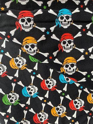 Mund Maske Pirat-Totenkopf (Beidseitig)