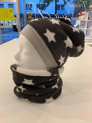 Mütze und Loop mit Bündchen Beidseitig