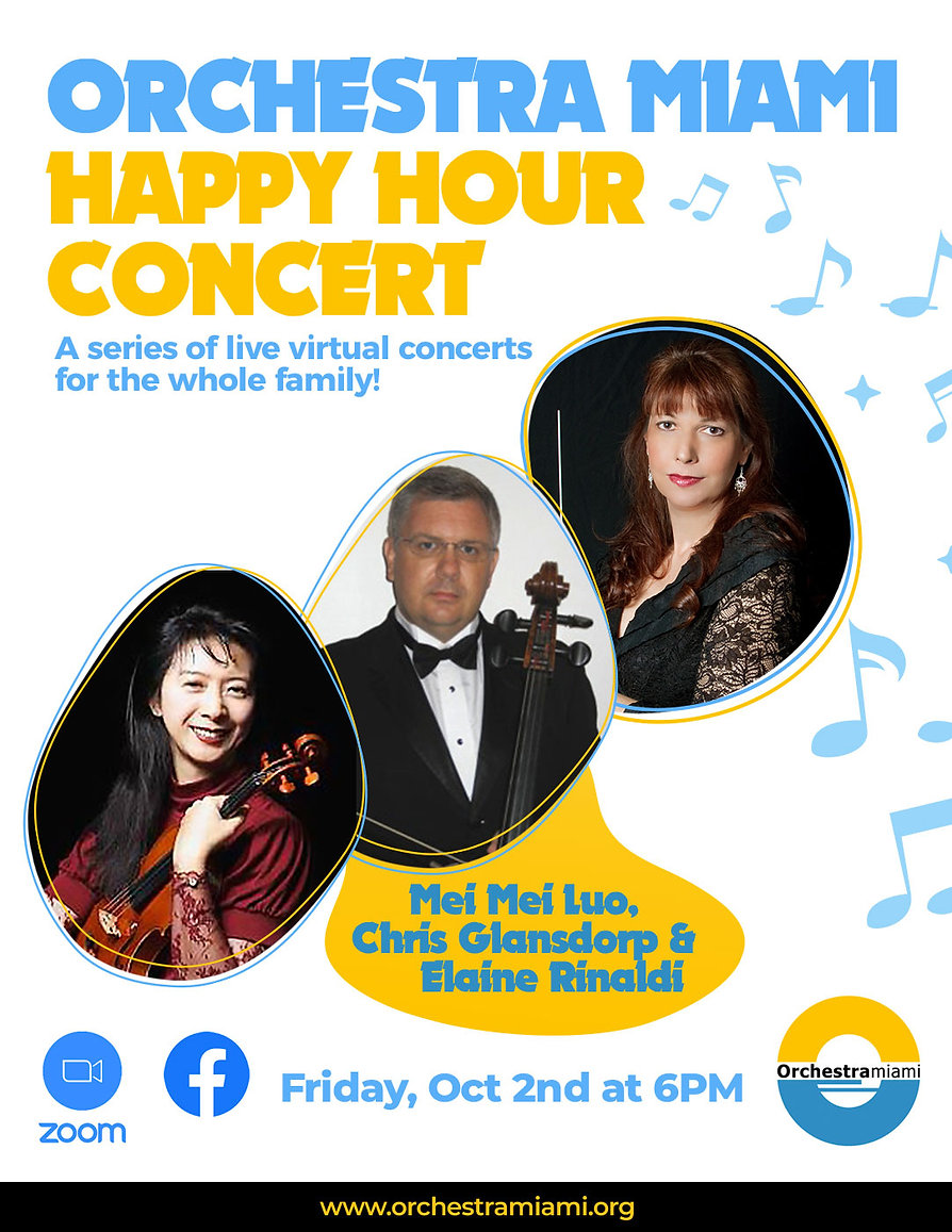 Orchesta Miami Virtual Happy Hour Concert- Friday, Oct 2, 2020 at 6 PM