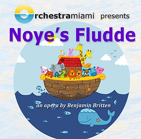 Noye's Fludde image with animals in a wooden boat