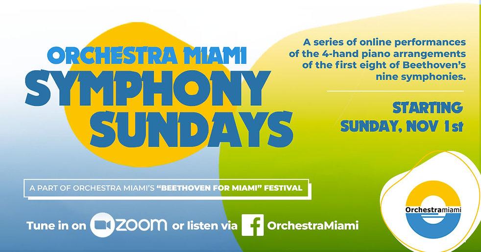 Orchestra Miami Symphony Sundays Banner