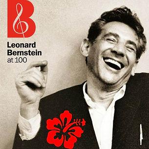 Image of Leonard Bernstein with Bernstein @100 logo