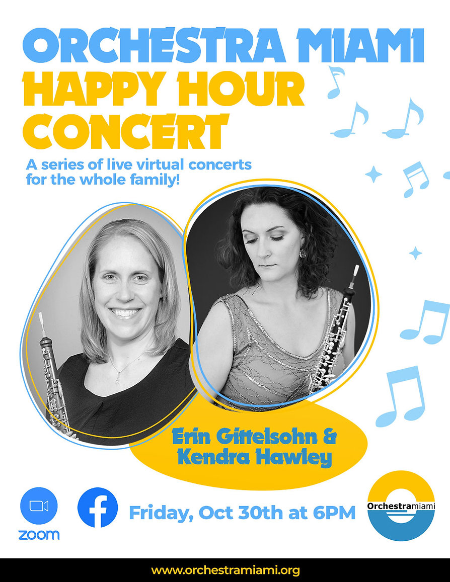 Orchesta Miami Virtual Happy Hour Concert- Friday, Oct 30, 2020 at 6 PM