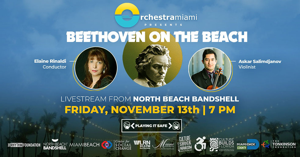 Orchestra Miami presents Beethoven on the Beach Friday November 13th