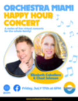 OM Virtual Happy Hour Concert Friday July 17th- 6 PM