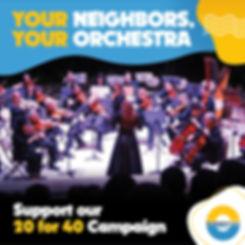 Support Orchestra Miami's 20 for 40 Campaign