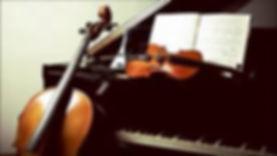 Picture of a Piano, Violin and Cello