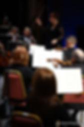 Elaine Rinaldi conducting Orchestra Miami