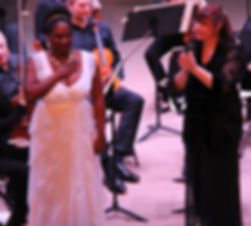 Jouvanca Jean Baptiste, Soprano & Elaine RInaldi, Conductor