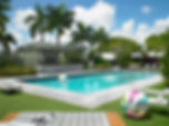 Image of the pool at the Vagabond Hotel