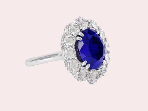 6.98 ctw Tanzanite Ring