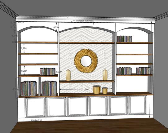 Bibliothèque en 3 D