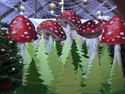 Scènographie forêt champignons
