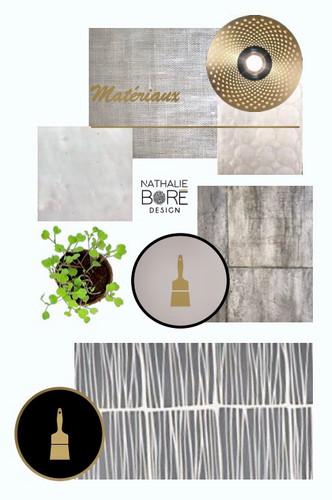 Planche matériaux et color design