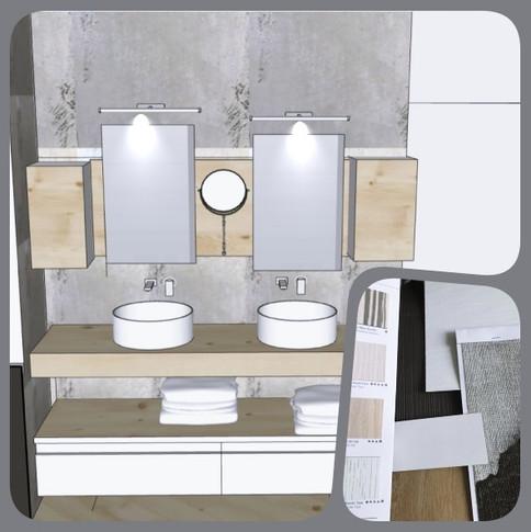 Projet salle de bains et chambre parenta