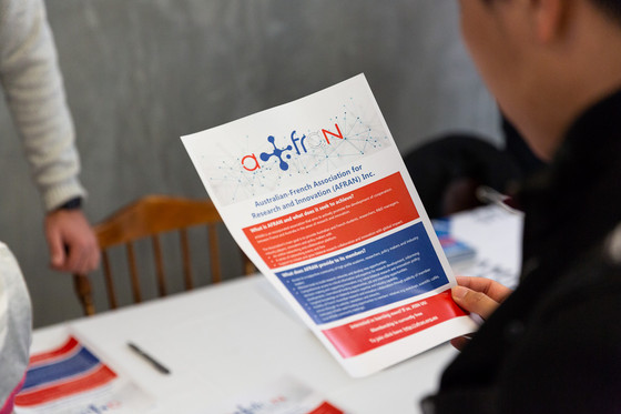 "AFRAN booth at the ""French Days on Campus 2018"" in Adelaide"
