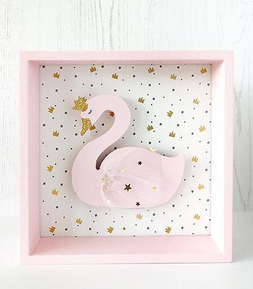 Pink Swan LED Frame