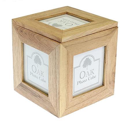 Oak Photo Cube