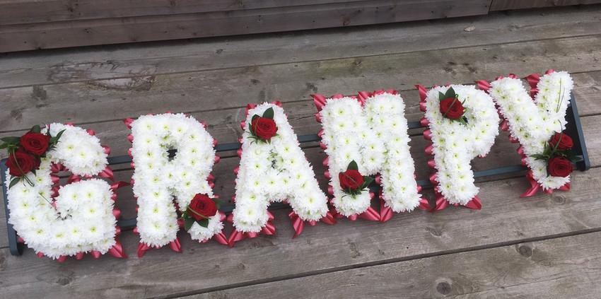 Floral Lettering - Grampy