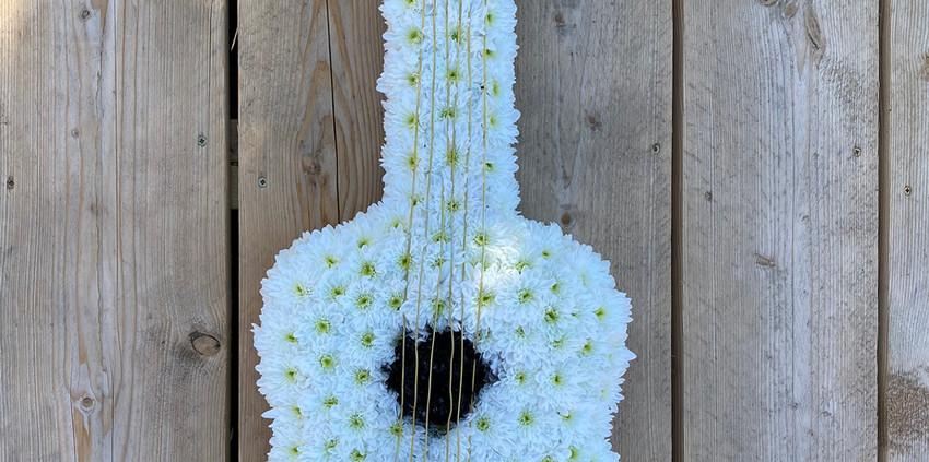 Bespoke Floral Tribute - Guitar