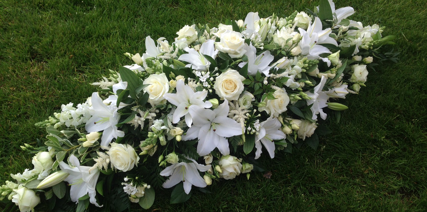Double Ended Spray - White Flowers