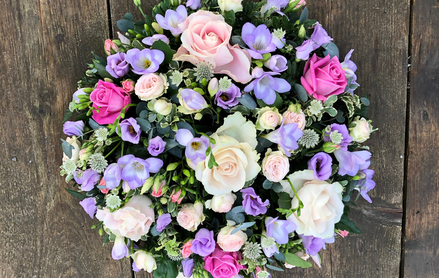 Funeral Posy - Purples