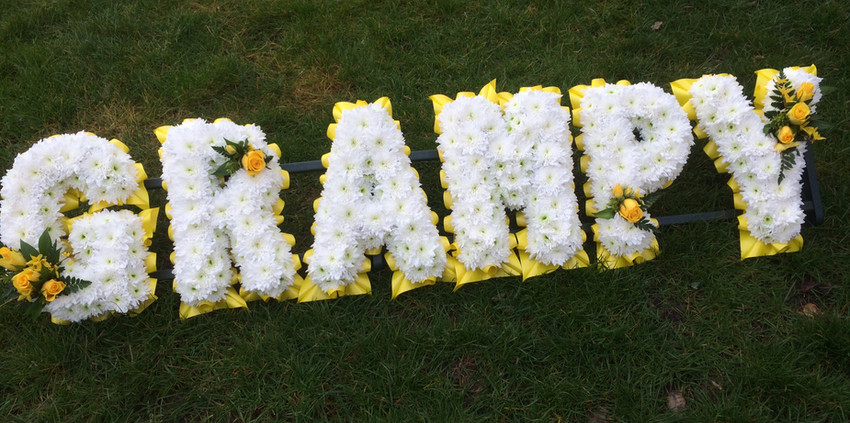 Floral Lettering - Grampy with Yellows