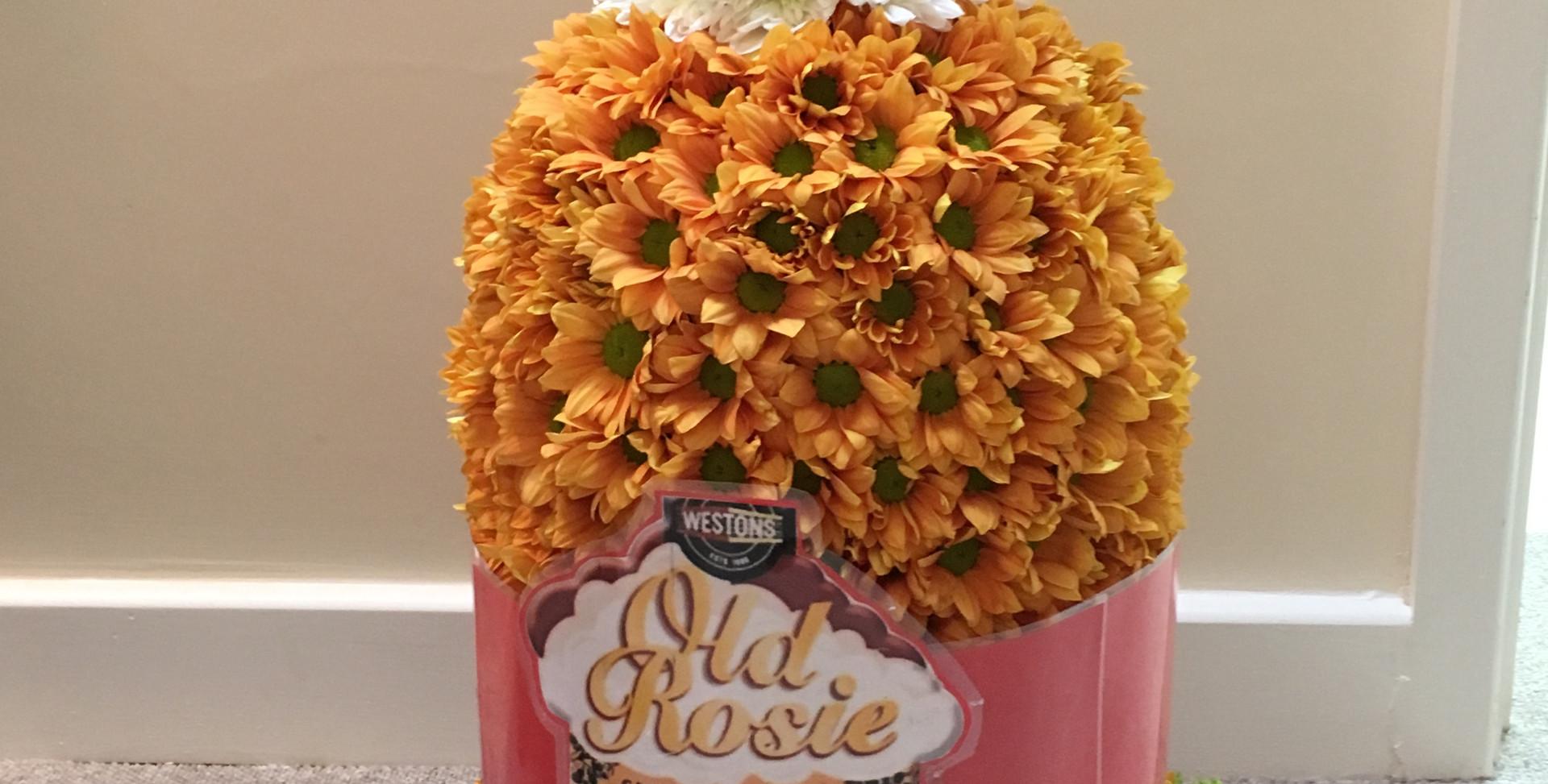 Bespoke Floral Tribute - Cider Bottle