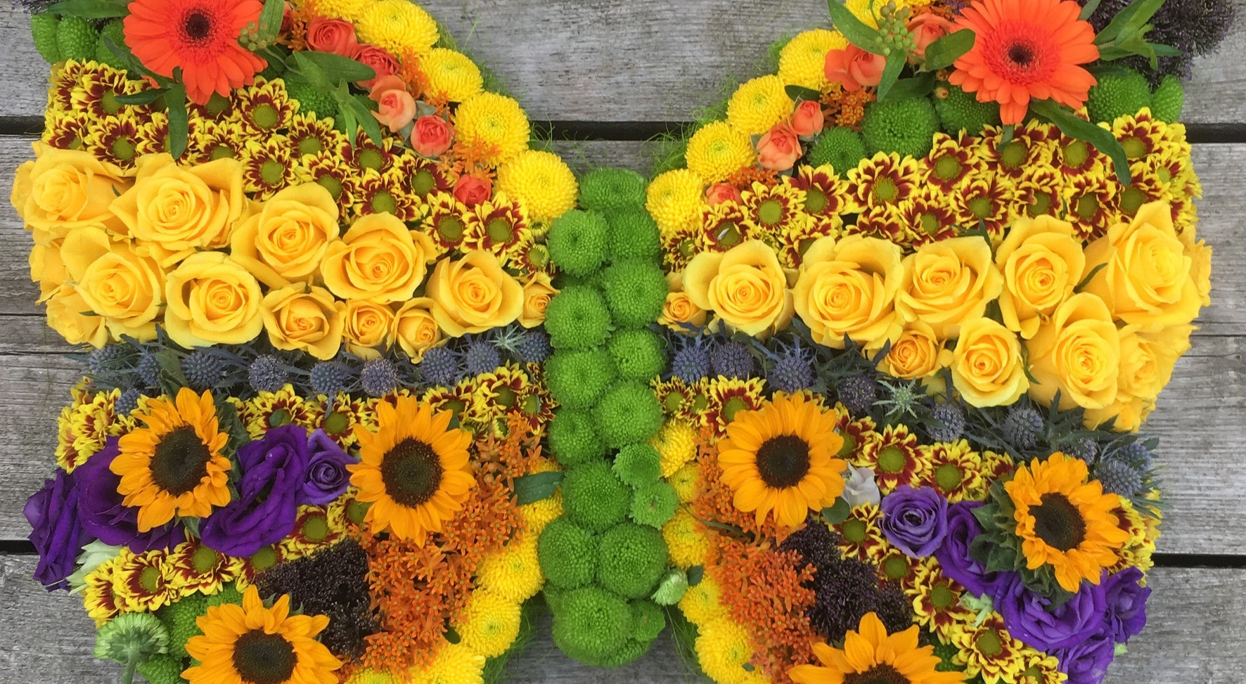 Bespoke Floral Tribute - Yellow Butterfly