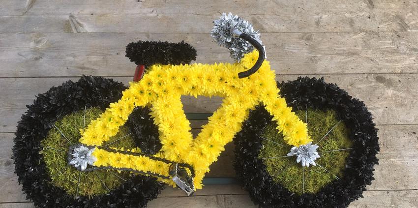 Bespoke Floral Tribute - Bike
