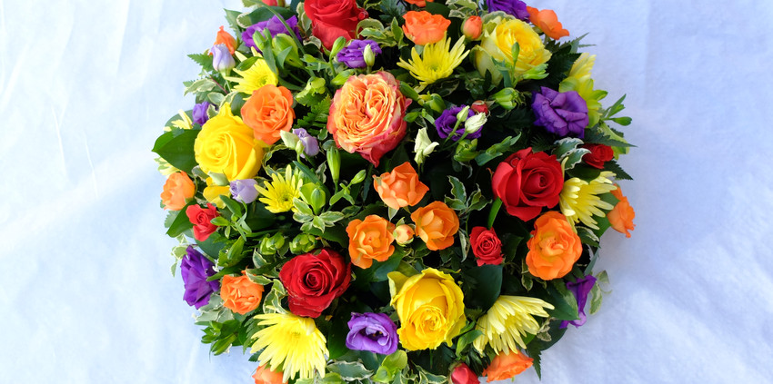 Funeral Posy - Brights