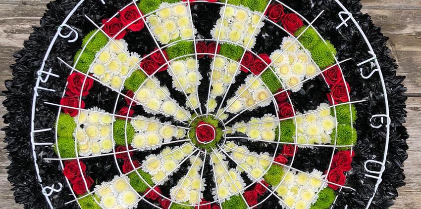 Bespoke Floral Tribute - Dartboard