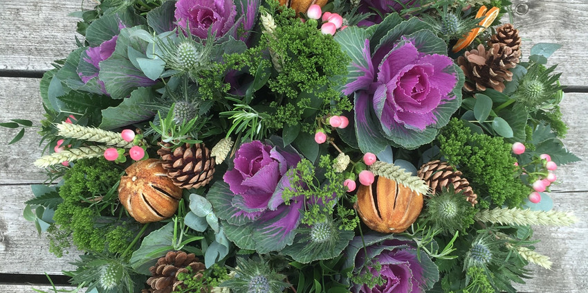 Funeral Posy - Winter