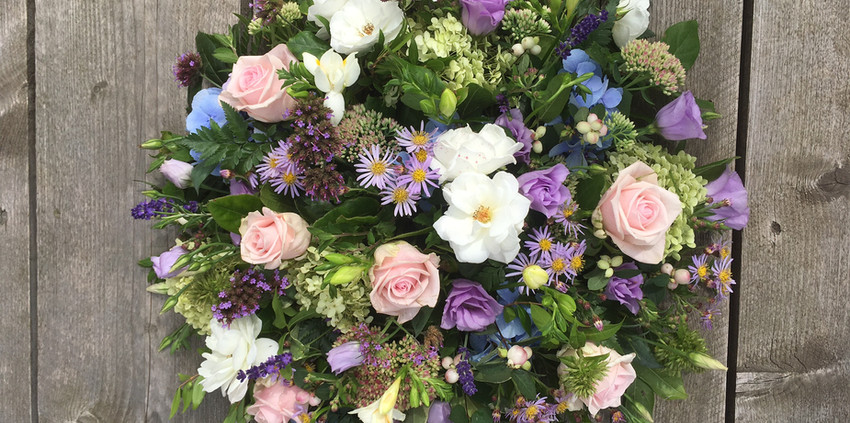Funeral Posy - Pinks and Purples