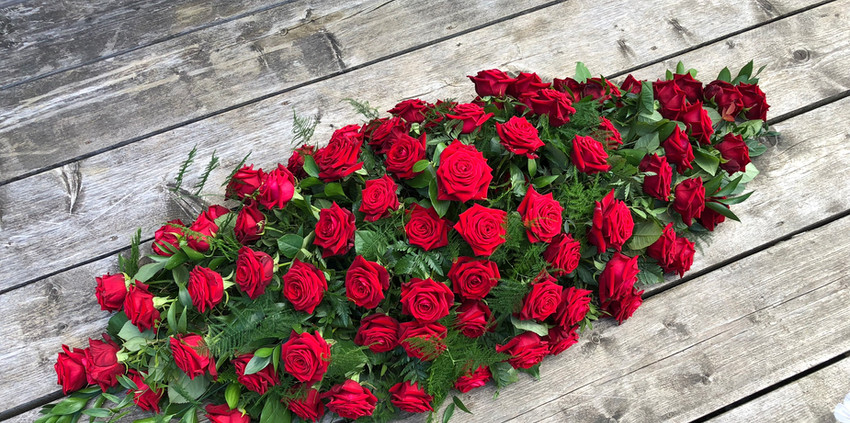 Double Ended Spray - Red Roses