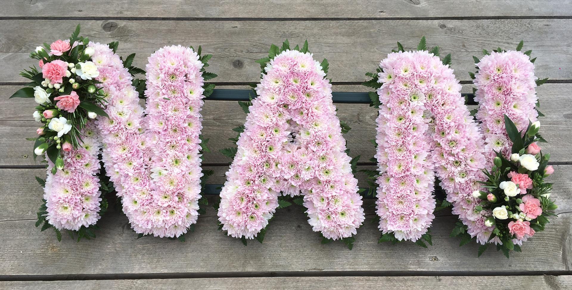 Floral Lettering - Nan
